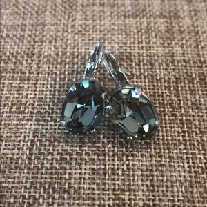 Sabika Oval Drop Earrings